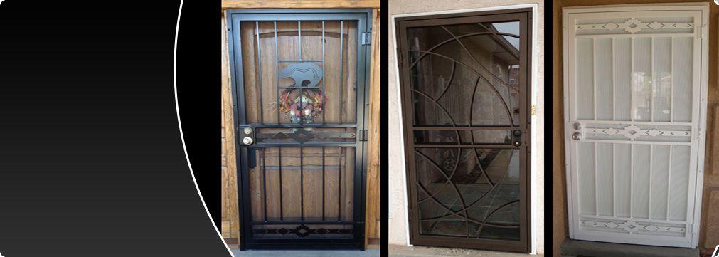 Storm Doors Screen Doors Entry Doors Barnett Aldon Ironworks Screen Door Storm Door Security Door