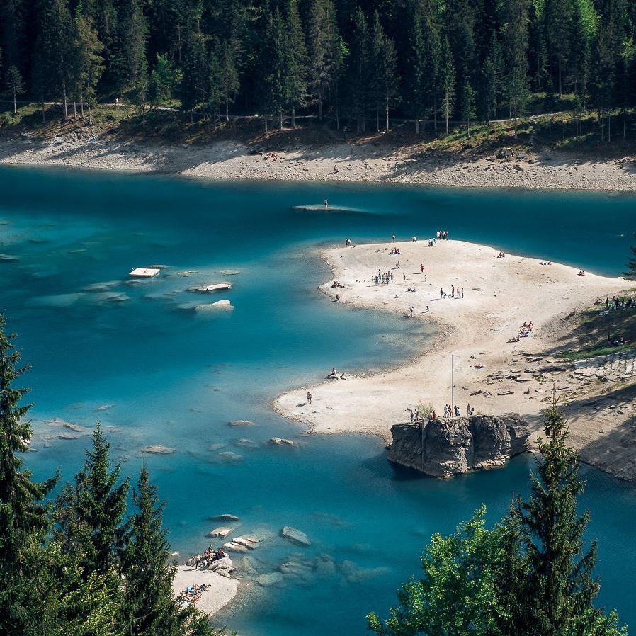 Cauma See Flims Caumasee Flims Graubuenden Schweiz Tourismus Travel Natu Places In Switzerland Magical Places Secret Places