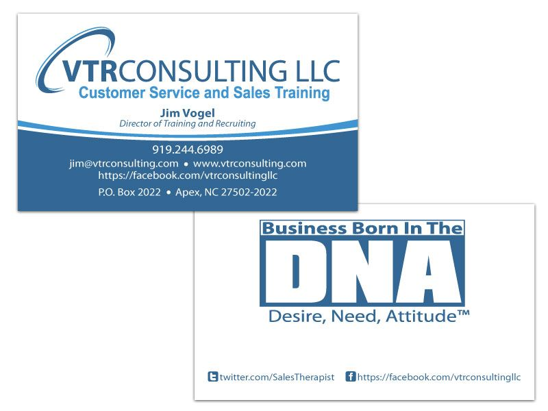 VTR Consulting double sided business card | Business Card Design ...