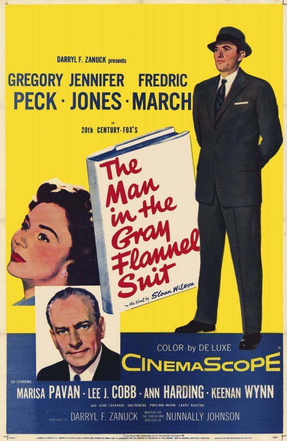 The Man In The Gray Flannel Suit (1956) This powerful story of postwar hopes and dreams, from Sloan Wilson's best-seller, resonated with many men and their families. Gregory Peck stars as a doting hus