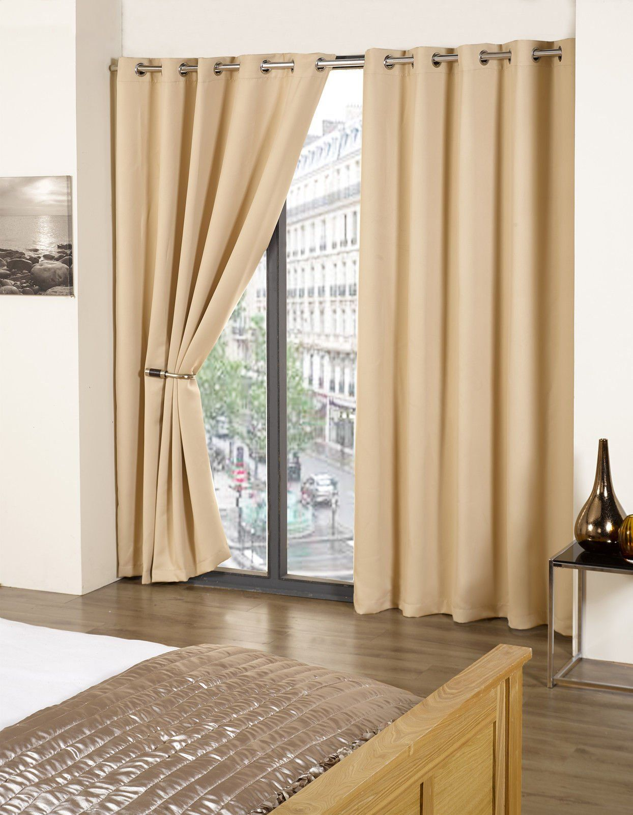 Ready Made Thermal Curtains Tony S Textiles Thermal Blackout Supersoft Eyelet Ring Top Ready