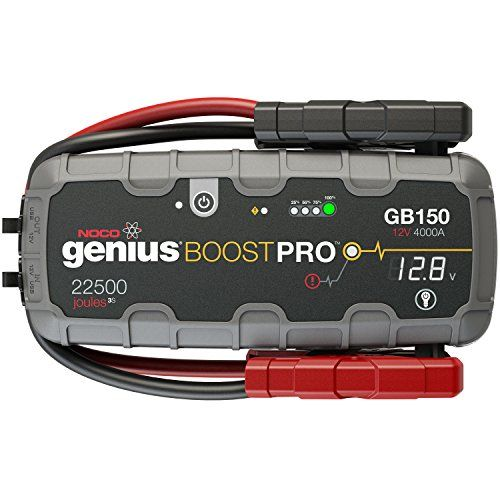 Noco Genius Boost Pro Gb150 4000 Amp 12v Ultrasafe Lithium Jump Starter Jump A Car Battery Car Battery Charger Car Battery