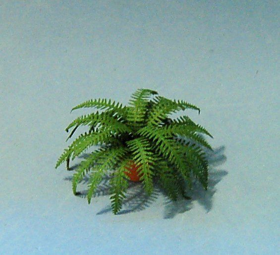 Dollhouse Miniature Boston Fern Leaves