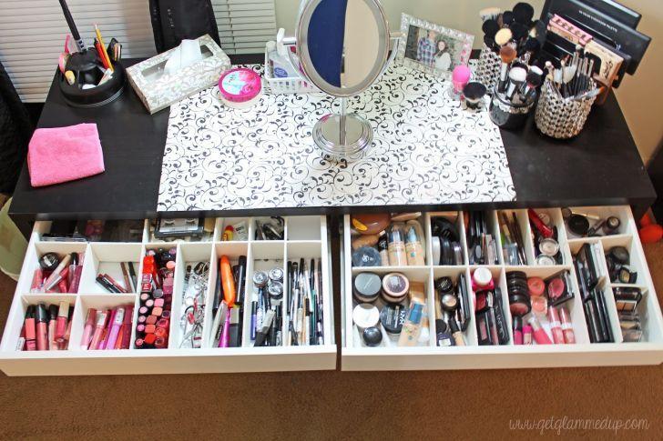 IKEA Makeup Vanity Organizer With DIY Custom Drawer