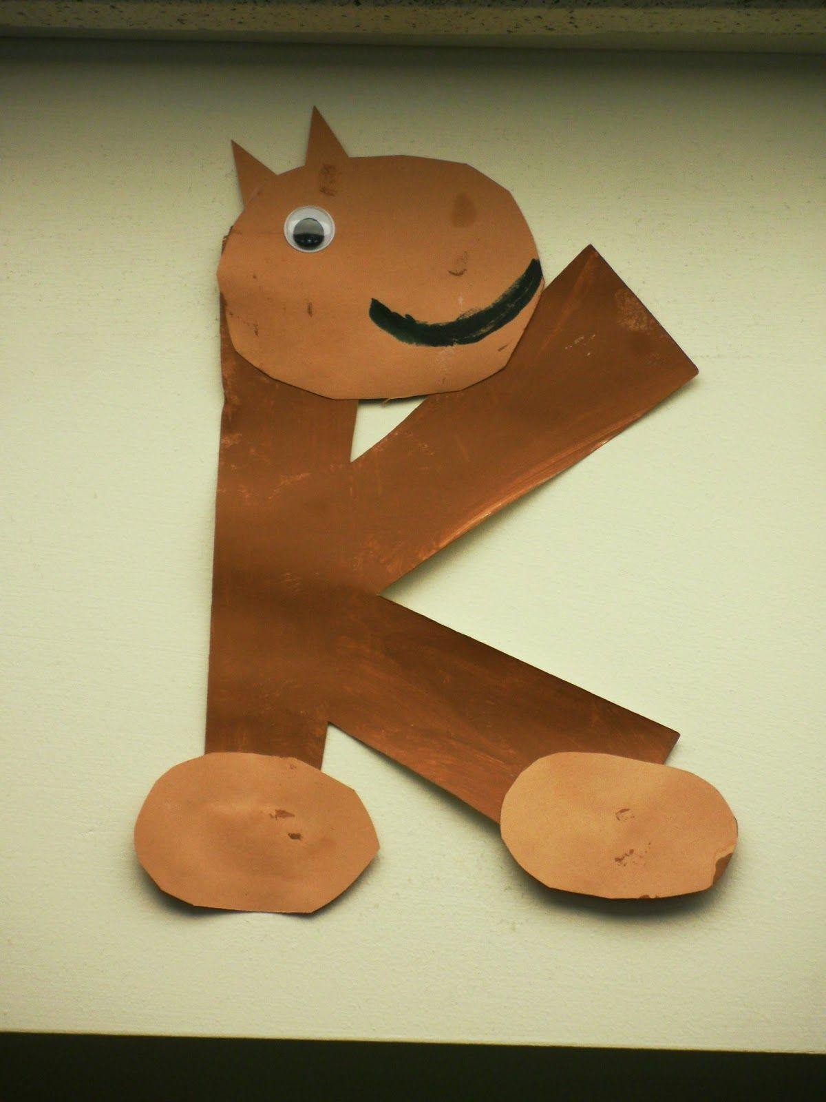 Letter K Kangaroo Art