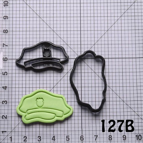 Police Hat Cookie Cutter Police Hat Fondant Cutter Police Hat