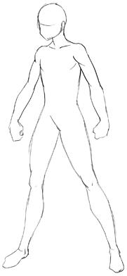 Male Body Base : Anime, Tutorial, Drawing, Manga, Bodies, Tutorials, Bodies,, Manga,