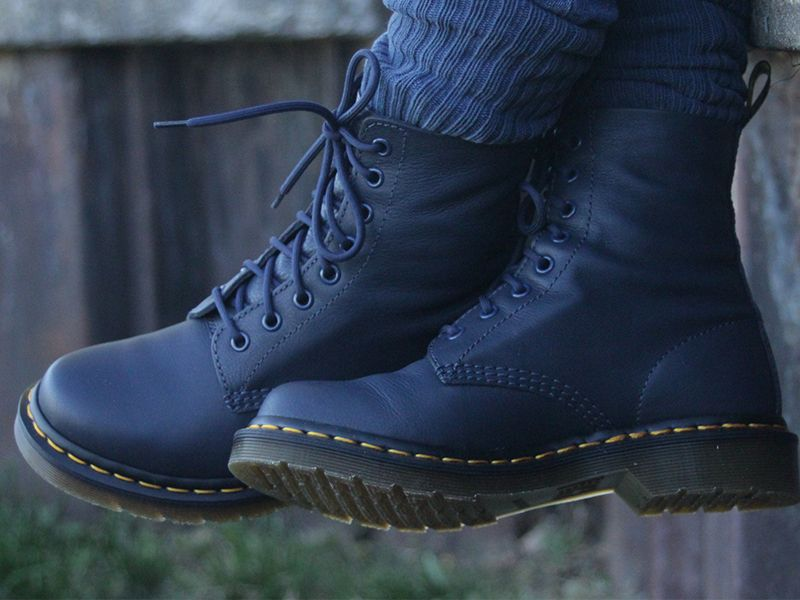 Picket Won Do housework  Dr. Martens Women's Pascal Boots Review – $135 | Boots, Dr martens boots,  Blue boots
