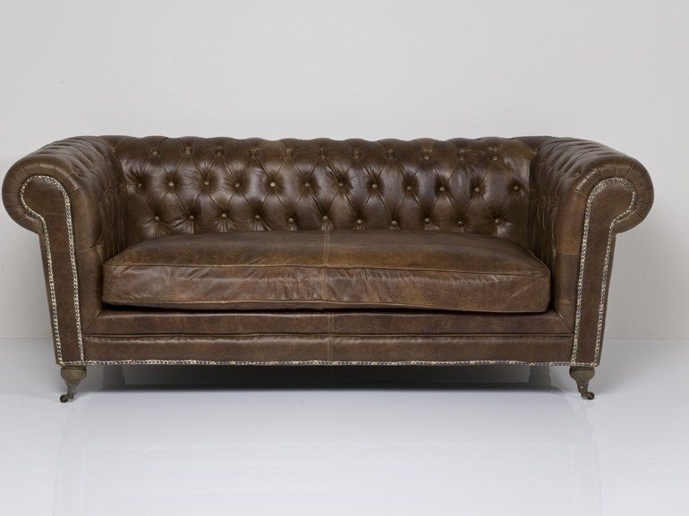 English Style 3 Seater Leather Sofa Oxford Vintage By Kare Design Tufted Leather Sofa 3 Seater Leather Sofa Modern Vintage Furniture