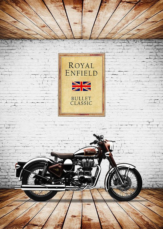 Photo of Royal Enfield Classic C5 Art Print by Mark Rogan