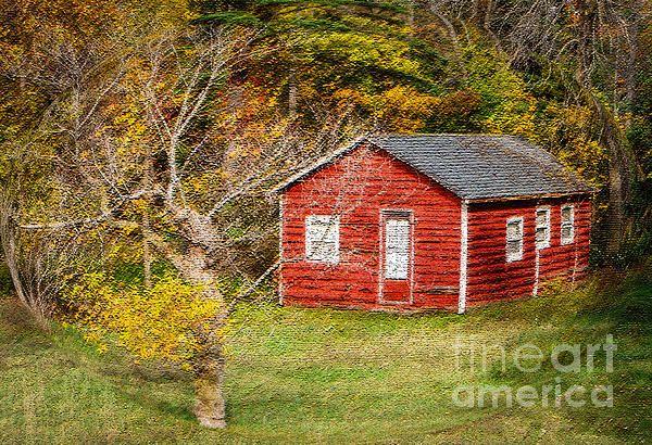 Little Red Log Cabin
