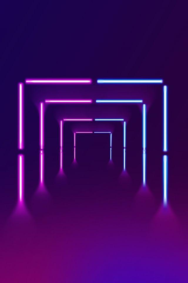 Cartaz De Neon De Linhas Brilhantes Geometricas Estereo Simples Linhas Iluminadas Neon Tridimensional Geometria Poster Senso De Neon Wallpaper Neon Backgrounds Neon Aesthetic