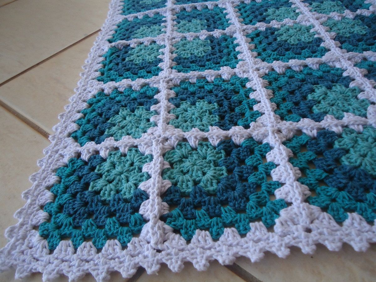 Tapete de Barbante | Crochet no Ponto | Elo7 | round blanket with ...