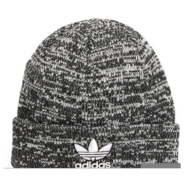 Adidas Originals Trefoil Ii Knit Cap (65 BRL) ❤ liked on Polyvore featuring  accessories