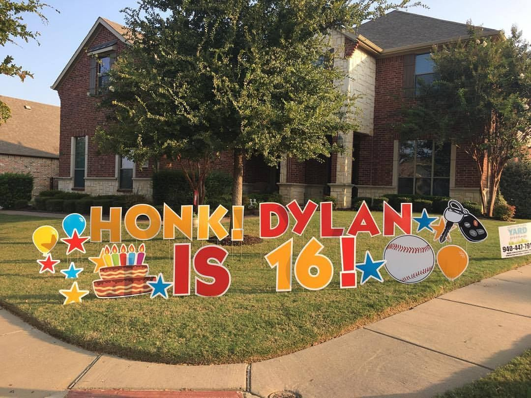 16 Year Old Birthday Ideas Yard Greeting Fun Birthday Yard Signs Diy Birthday Lawn Signs Birthday Yard Signs