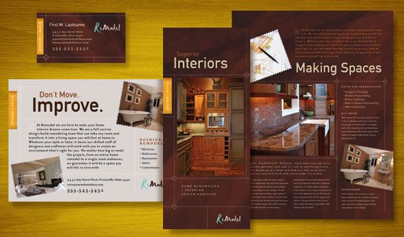 Home Remodeling Brochure, Flyer & Ads, Datasheet, and Stationery ...
