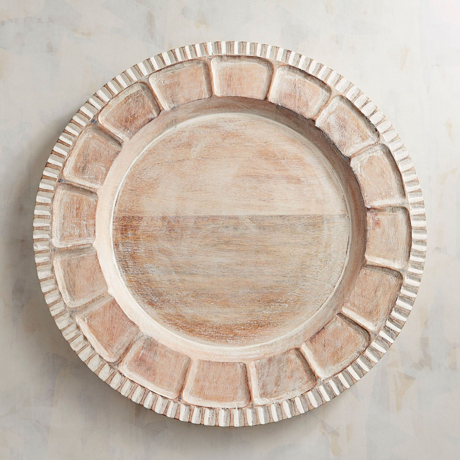 Wooden Carved Scallop Charger Plate Pier 1 Imports Wooden Charger Plates Charger Plates Plates