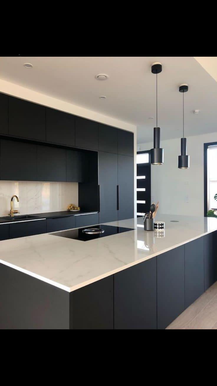 Kitchen Interior Design Modern Simple And Best Color For Kitchen Interior Modern Kitchen Design Luxury Kitchen Design Matte Black Kitchen
