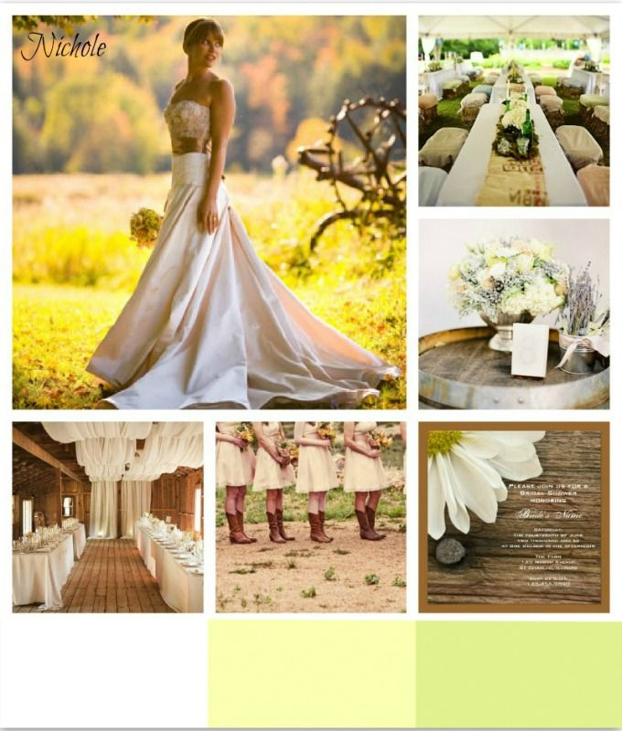 here is a little inspiration for a country wedding! #weddings ...