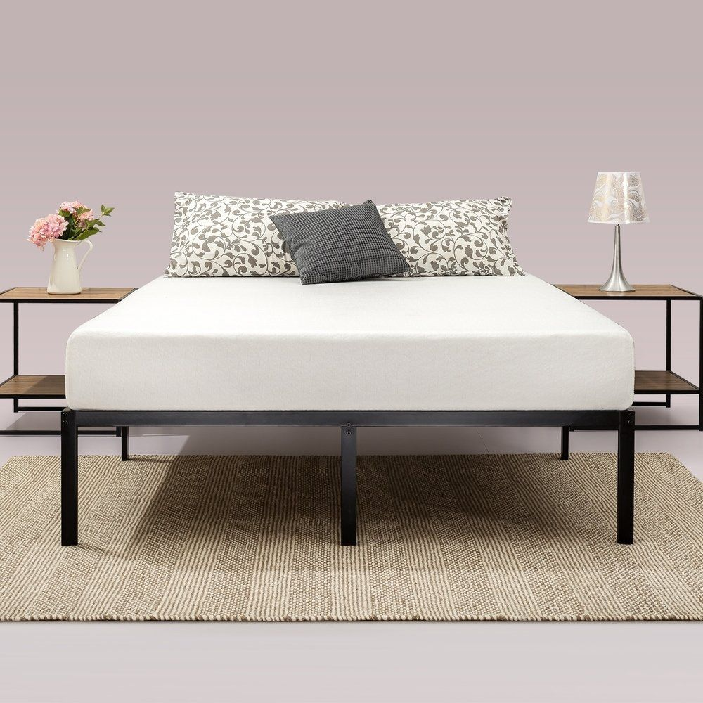 Priage 14inch Classic Metal Platform Bed Frame (King