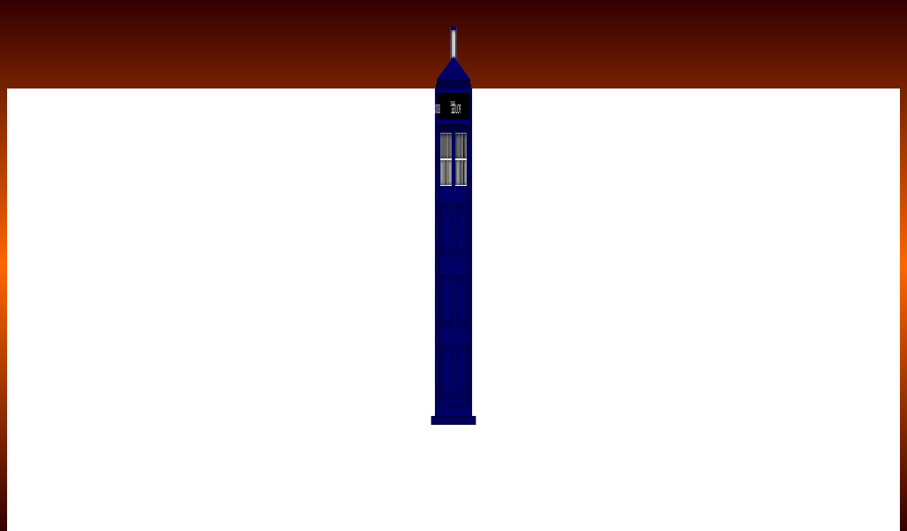 Doctor Who's TARDIS made using a lot of divs with 3D