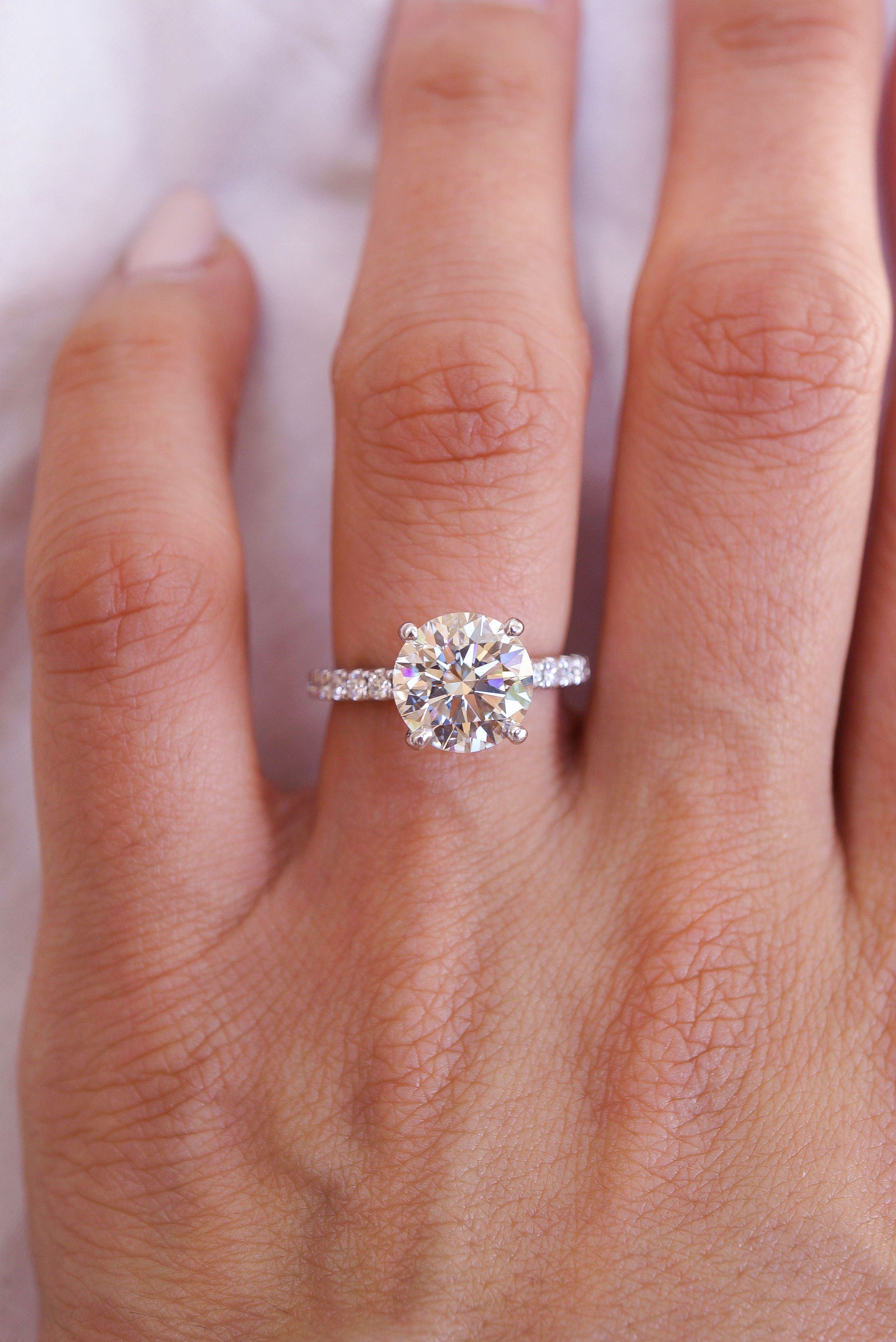 Pin On Round Diamond Engagement Rings