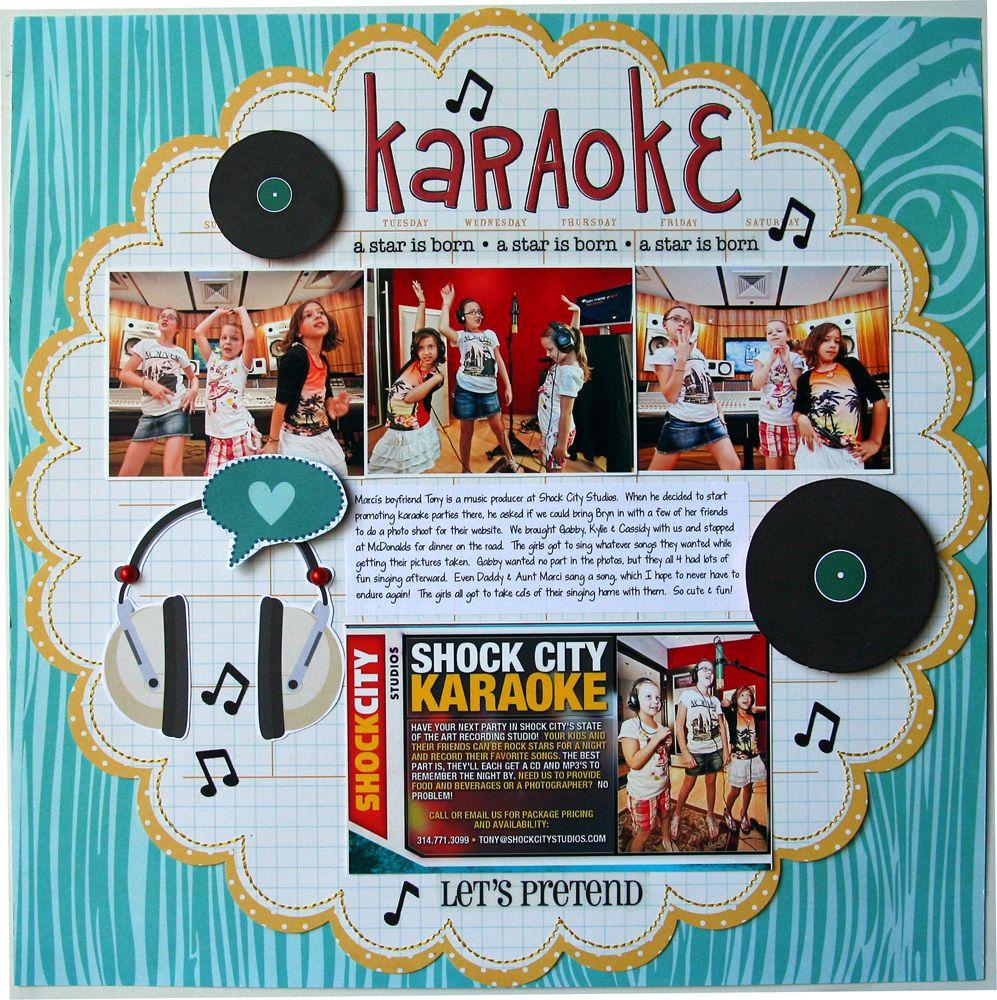 Scrapbook ideas music - Karaoke Scrapbook Com
