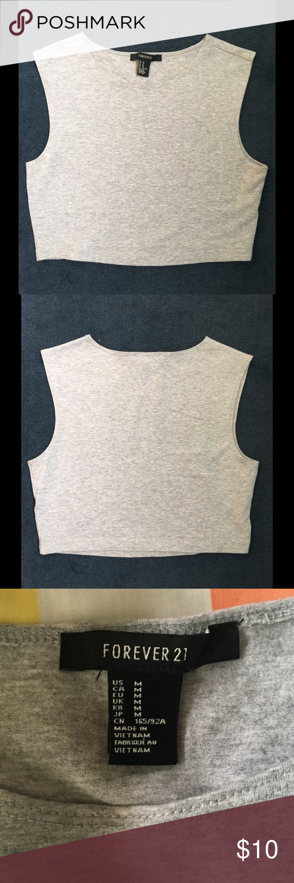 Heather grey crop top Heather grey crop top! Not Brandy just listed as that for views! Worn once but is in great condition! Make offers :) Brandy Melville Tops Crop Tops