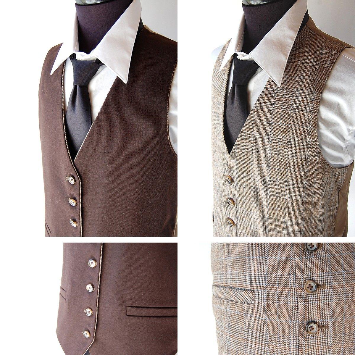 vintage Mens 3 Piece Wool Suit Reversible Vest by shopgoodgrace, $94.00