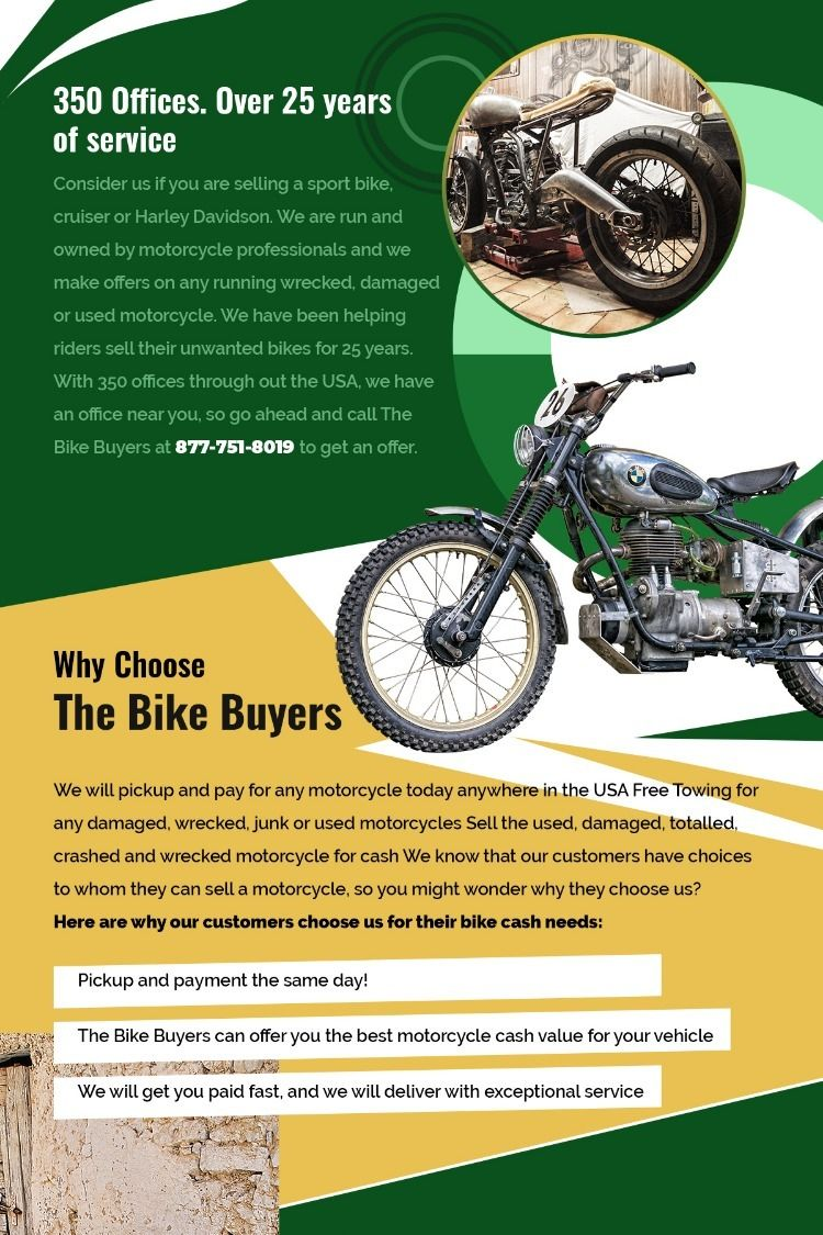 Buy Used Motorcycles >> We Are A Company Buying Used Crashed Wrecked Motorcycles