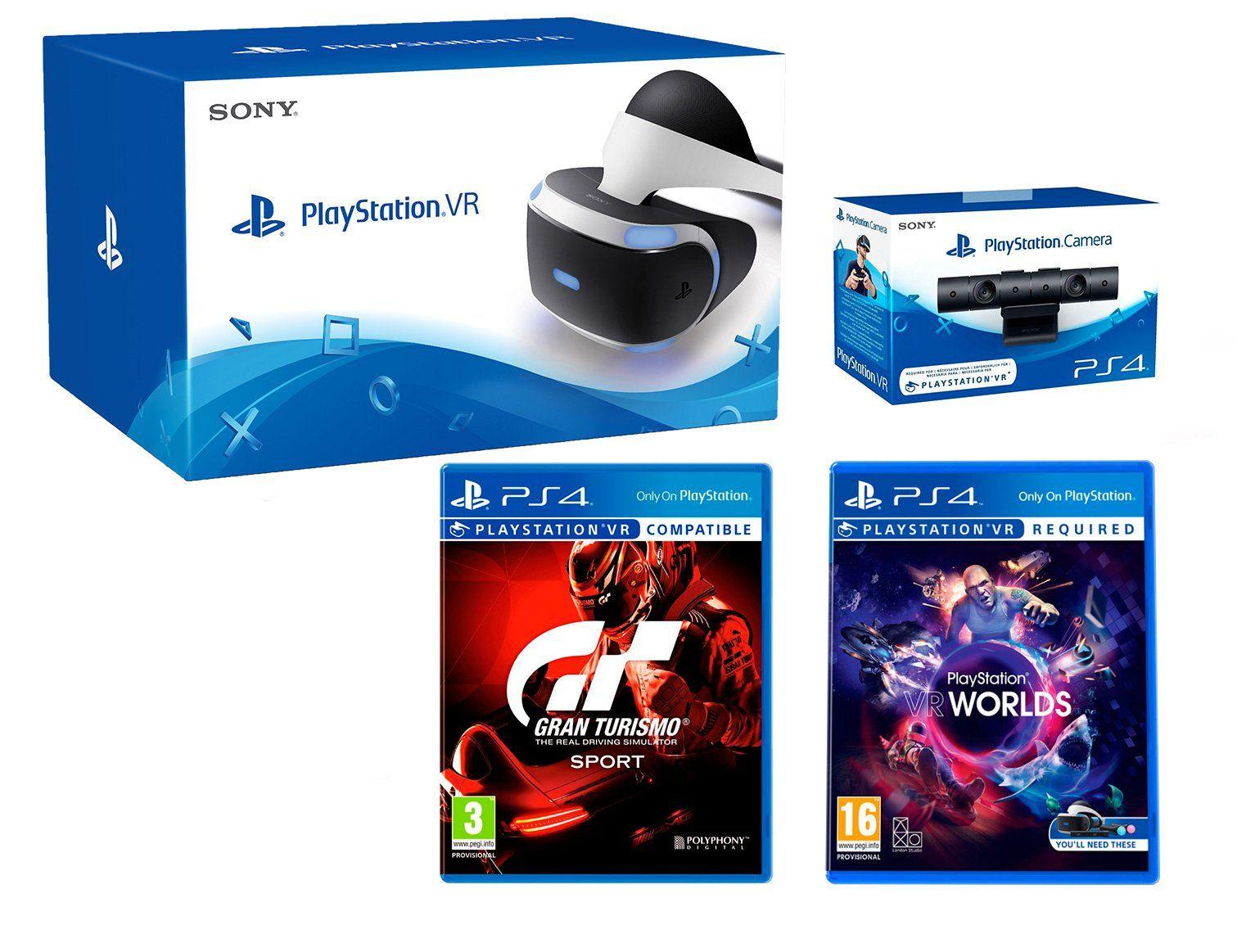 "PlayStation VR + Gran Turismo ""GT Sport"" + VR Worlds + PS4"