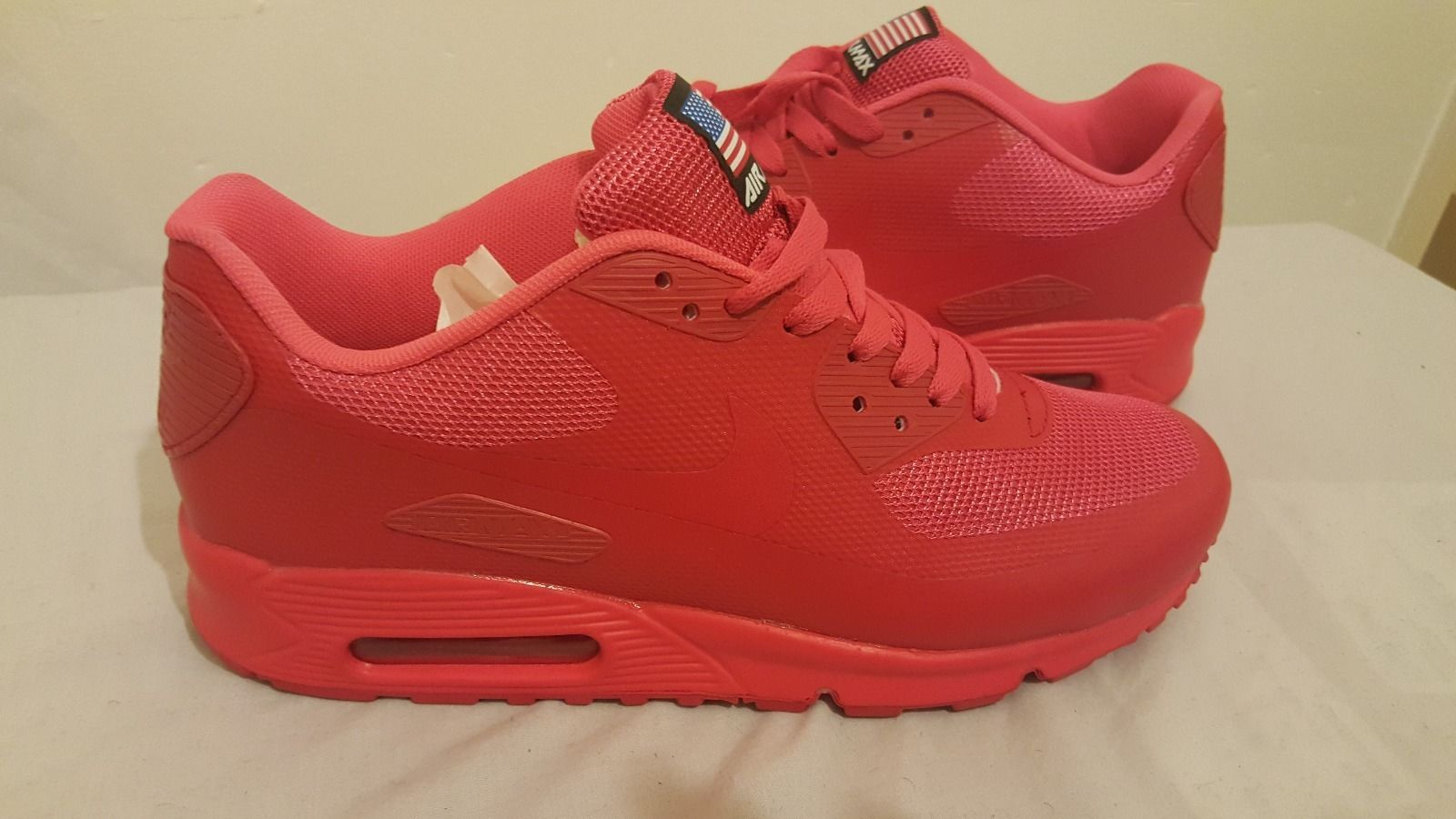 9b20a4ad18 ... free shipping nike air max 90 mens independence hyperfuse solar red size  9 new usa import