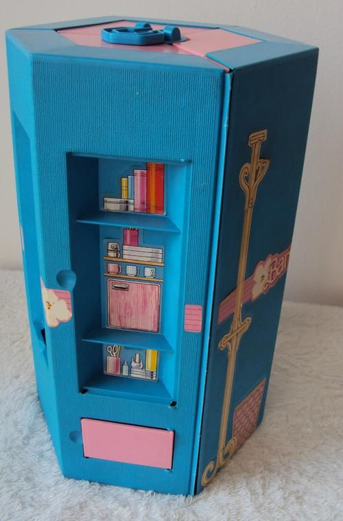 Barbie Day and Night Folding Apartment and Office Case by, 1984