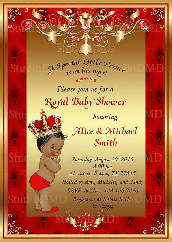 Printable Royal Baby Shower Invitation