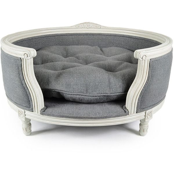 Lord Lou George Stonewash Heavy Burlap Grey Sofa   M ($400) ❤ Liked On