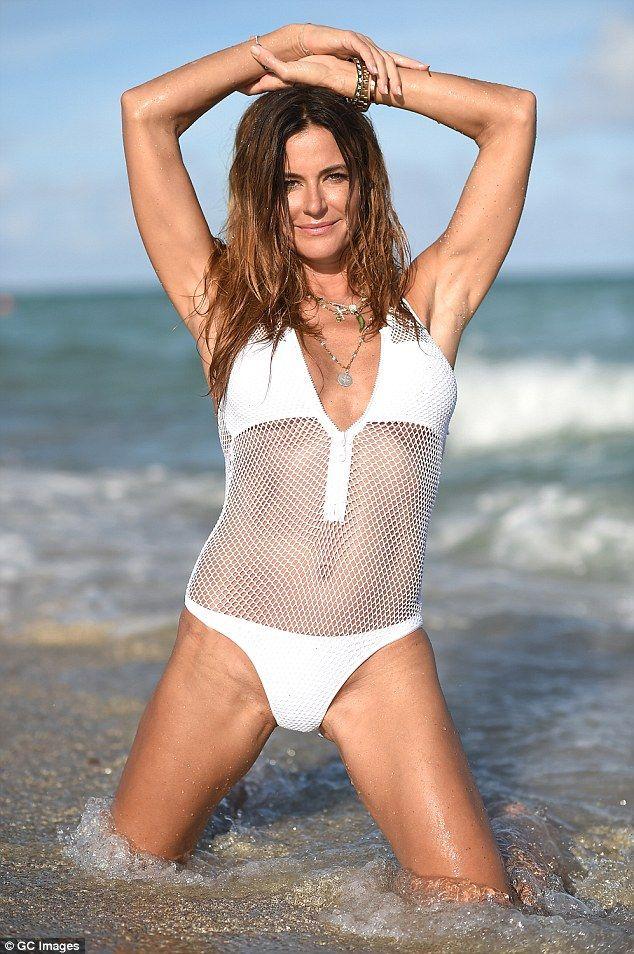 Kelly Bensimon 47 Flaunts Her Ripped Abs In Mesh Swimsuit Miami SwimsuitsKelly BensimonBeachesBeach BodiesReality