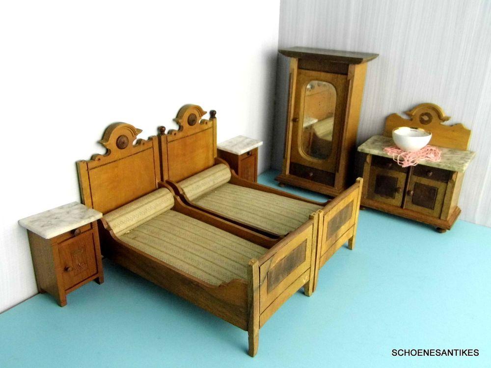 Superb Schlafzimmer Bilder Um 1900 #9: Altes Schönes Schlafzimmer Gründerzeit Original 1900 Puppenstube | EBay
