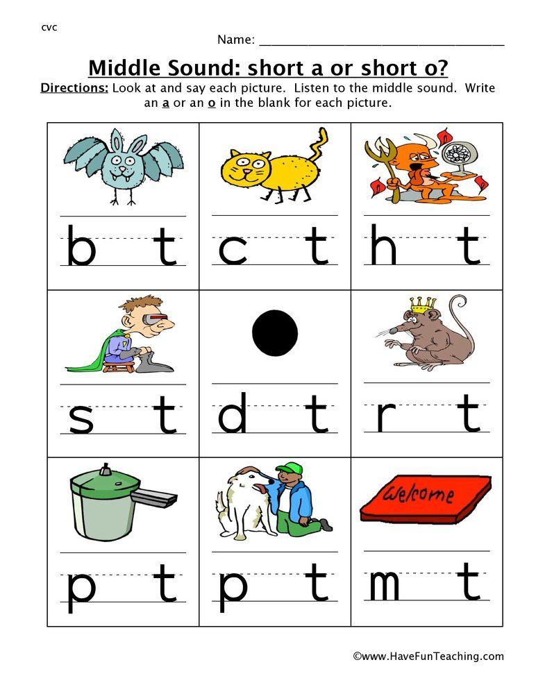 First Grade Middle Letter Sound Worksheets In 2020 Middle Sounds Middle Sounds Worksheet Kindergarten Worksheets Middle sound worksheet