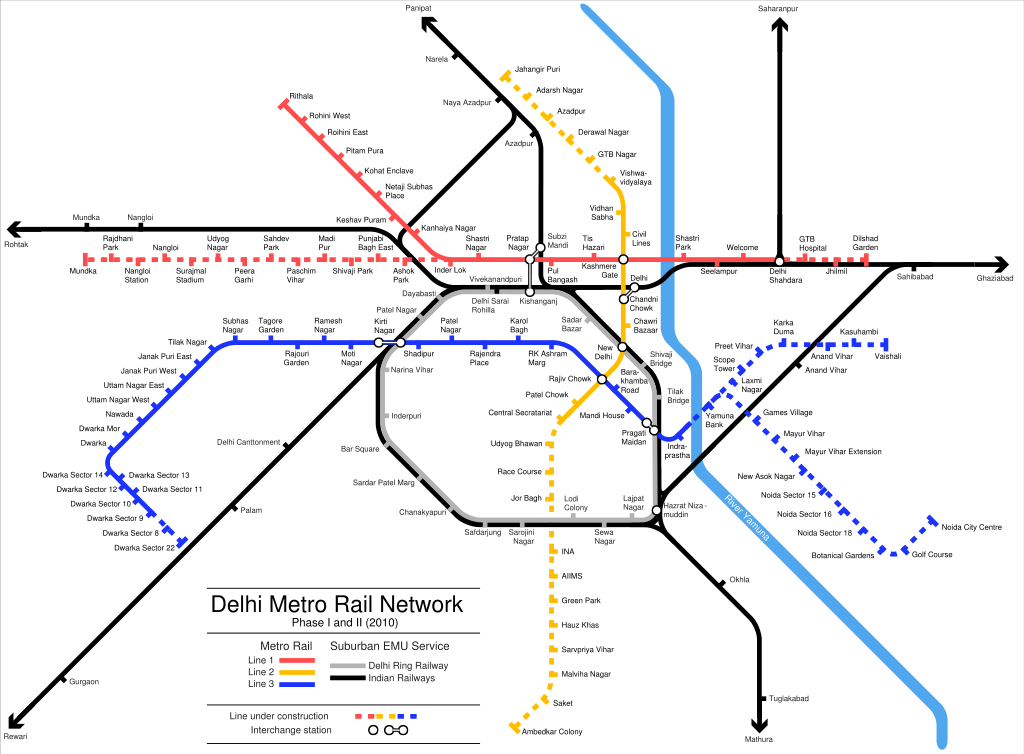 Delhi Metro Route | Take a look in 2019 | Metro route map, Delhi ...