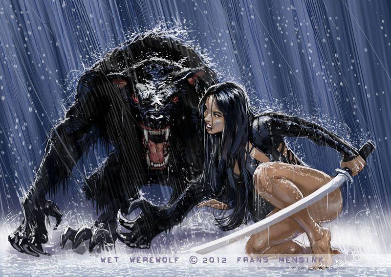 Wet Werewolf By Fransmensinkartist On Deviantart  Cry -3520