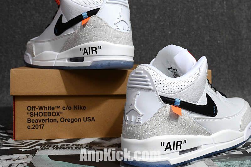 4648f606664 off white air jordan 3 og retro 3s white cement custom jordans shoes 9) -
