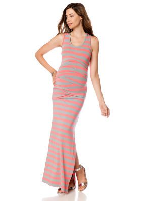 Nicole miller striped jersey maxi dress