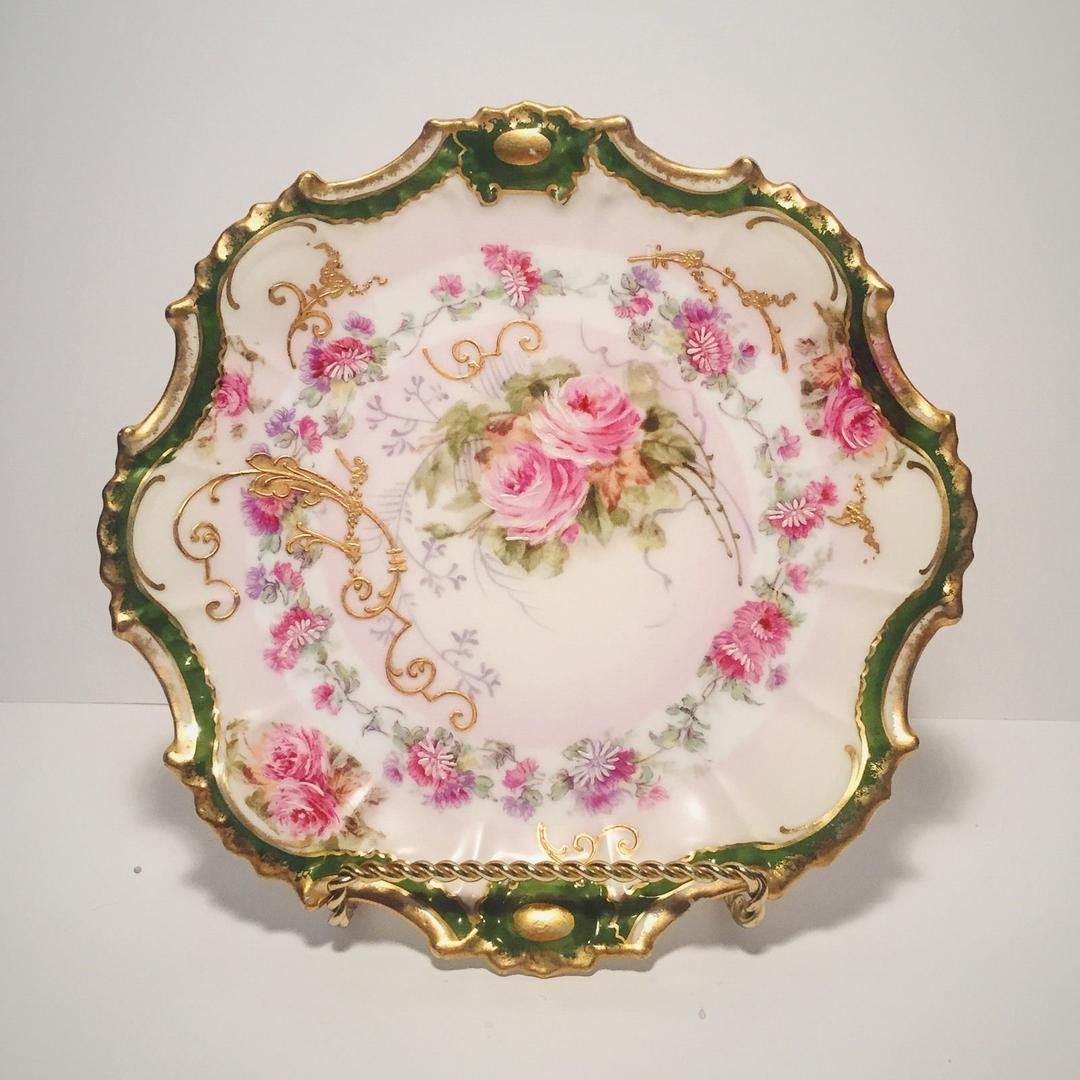 Antique Limoges France Coronet Plate French Hand Painted Floral ...