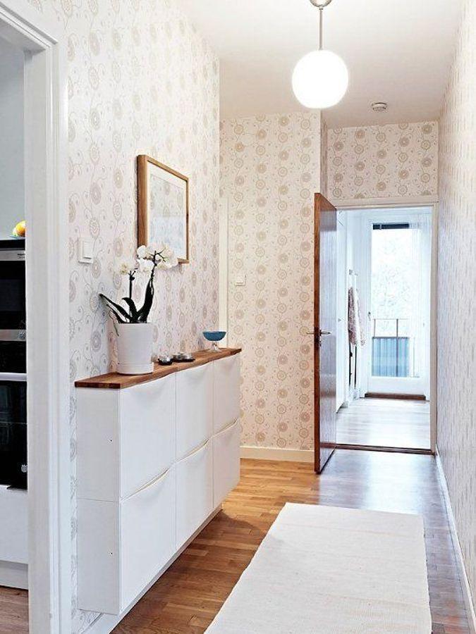 decorar recibidores con zapateras de ikea