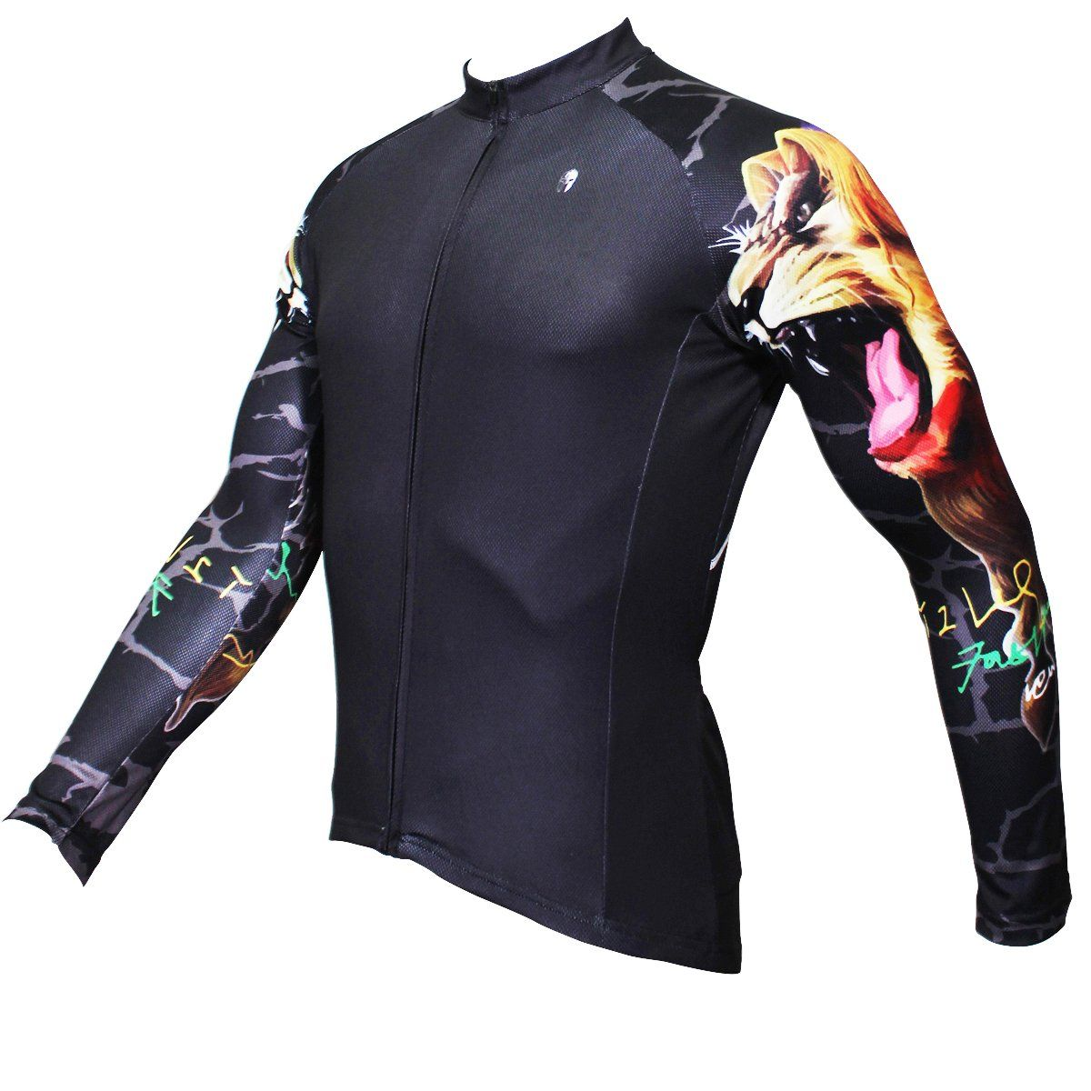 ILPALADINO Gipsy Lion Cool Graphic Arm Print Men s Cycling Long-sleeve  Black Jerseys - Spring Summer Exercise Wear Bicycling Pro Cycle Clothing  Racing ... 679a66f37