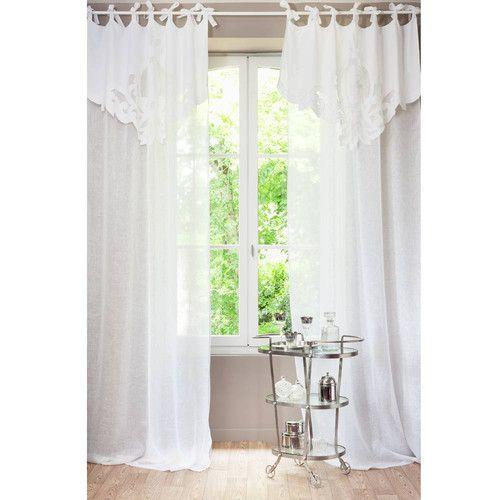 Et avec des nouveautés toute l'année et la livraison gratuite en magasin, décorez à volonté. Rideaux Voilages Curtains Tie Top Curtains Window Curtain Designs