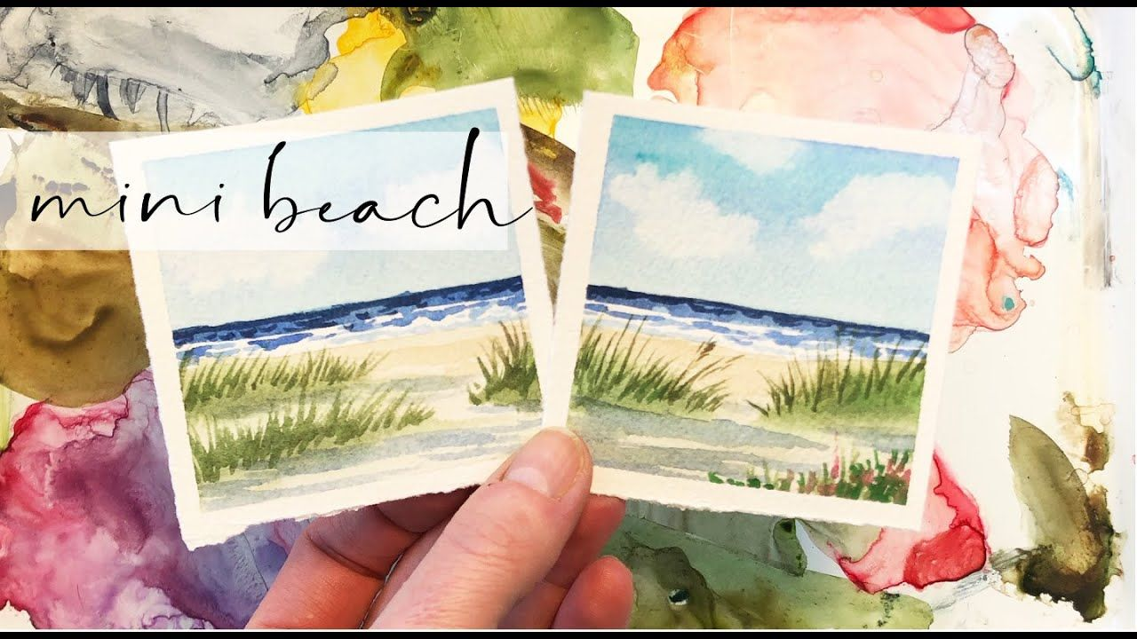 Beach Painting Watercolor Tutorial Mini Monday Madness 25