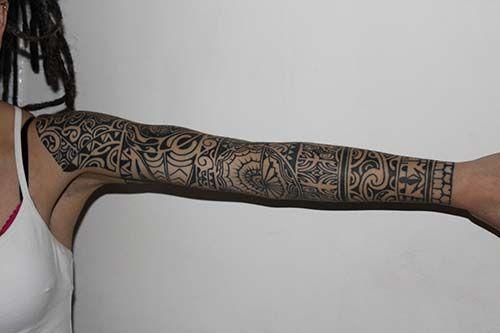 kadin tam kol maori tribal dovmeleri woman full sleeve maori tribal tattoos tribal dovmeler dovmeli kadin maori