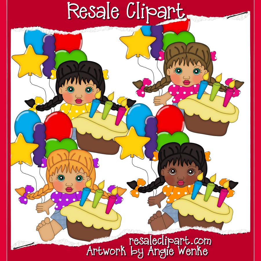 Birthday Girls #Clipart