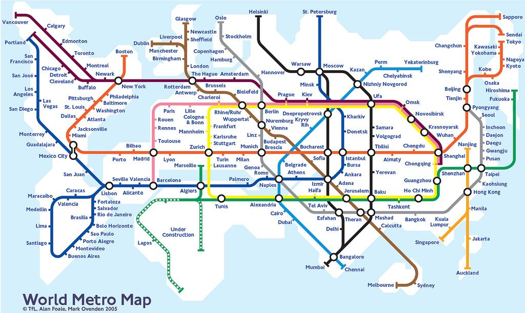 World Metro Map Maps Map Powerpoint Animation Visual Resume